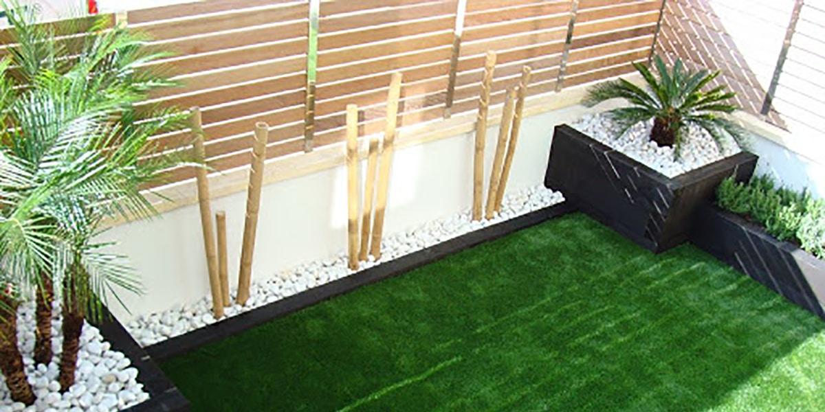 Jardineras de bambú