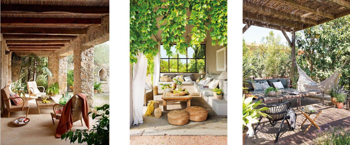 Zona de descanso en el porche