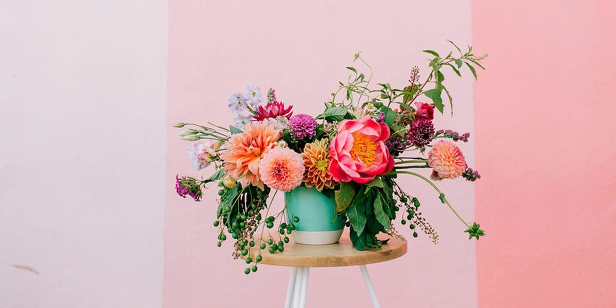 Centros de flores artificales