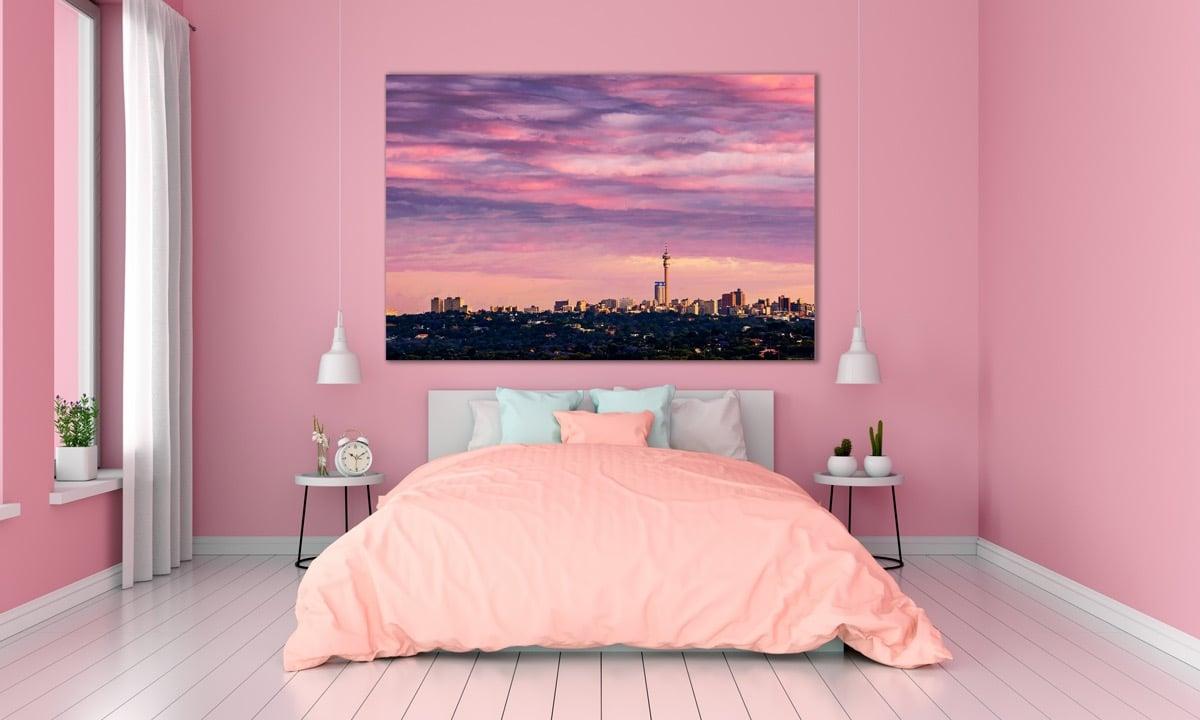 dormitorio principal rosa