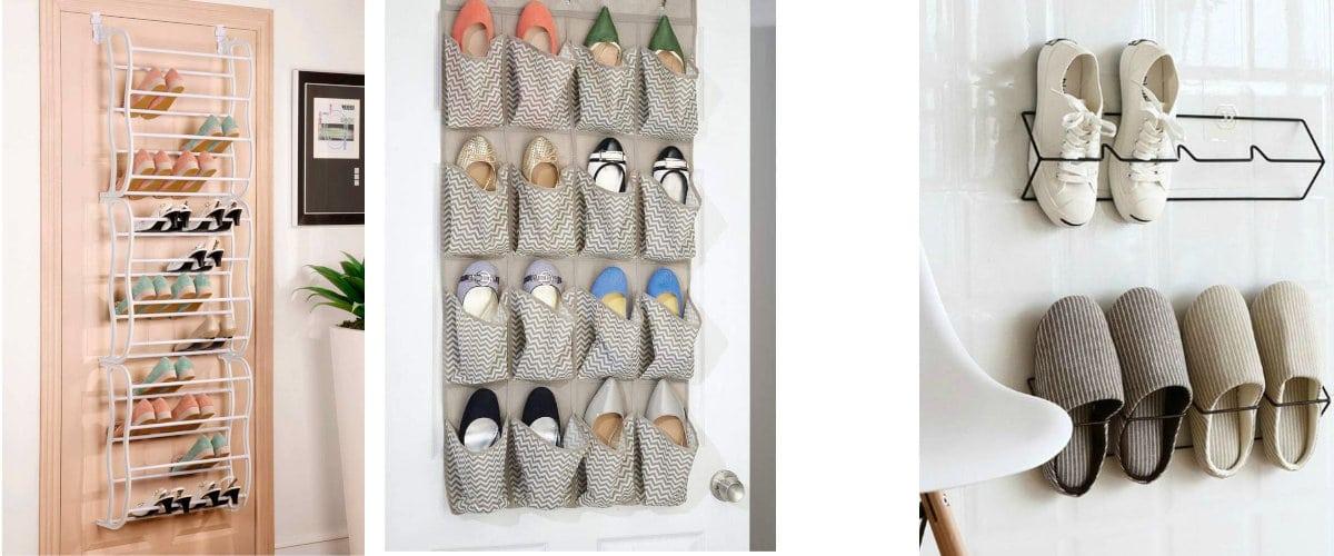 Organizador de puerta para zapatos
