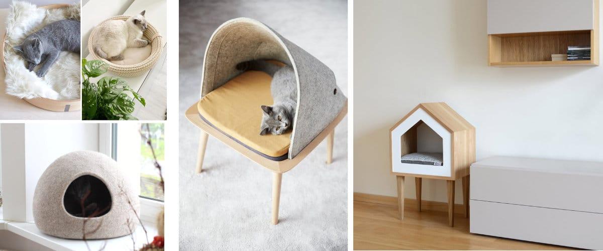 Camas para gatos de estilo nórdico