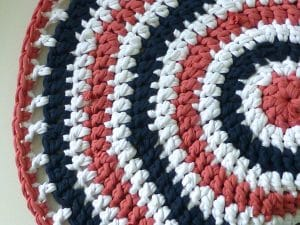 alfombra de trapillo redonda