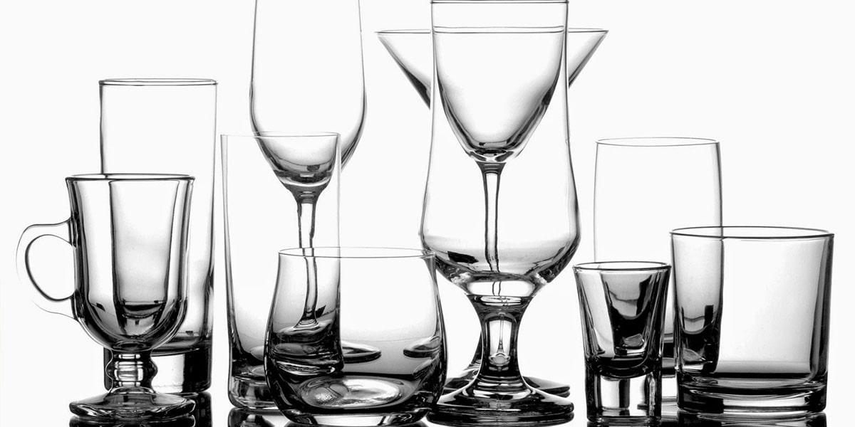 Cristalería sencilla
