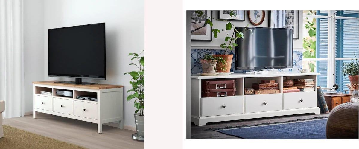 Muebles de TV de Ikea: Hemnes y Liatorp
