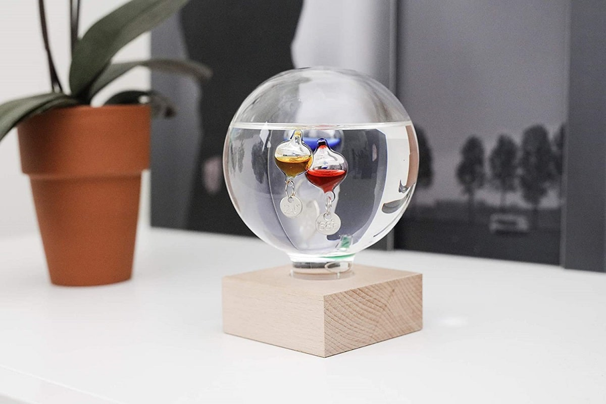 Termómetro de galileo esfera