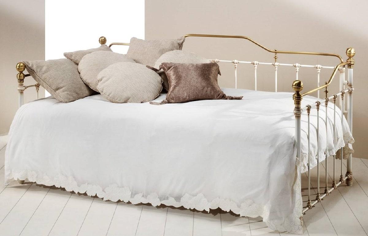 diván cama de forja