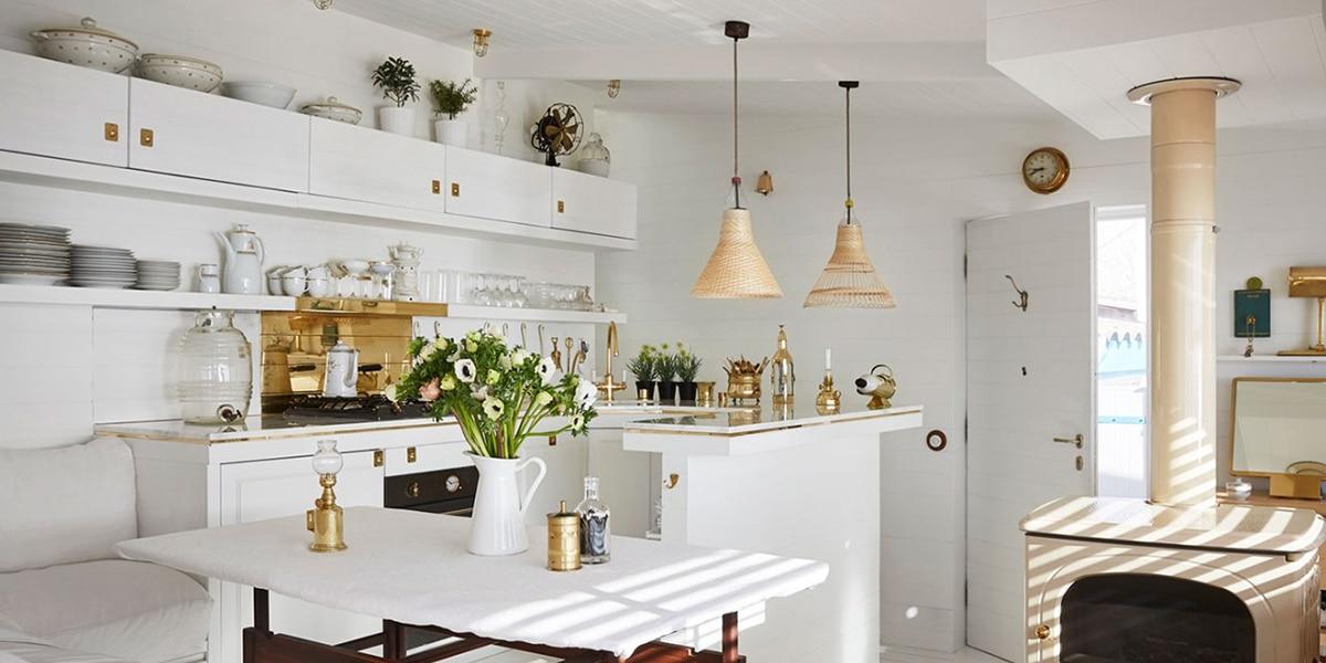 Color blanco en la cocina