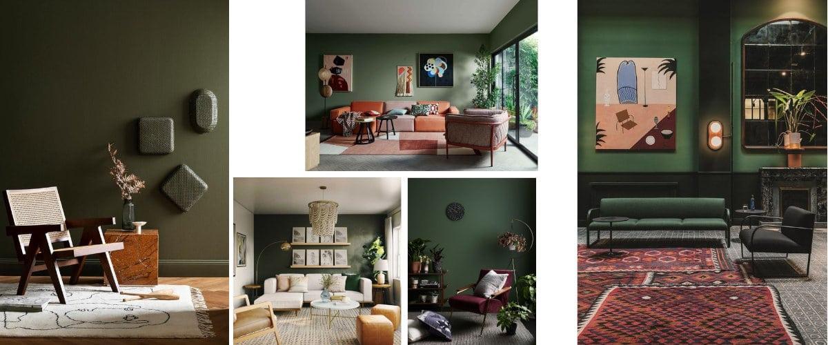 Pintar un salón en color verde