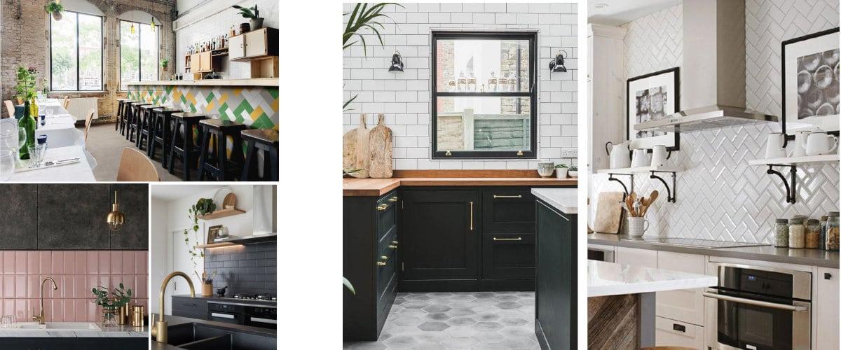 Azulejos metro en la cocina