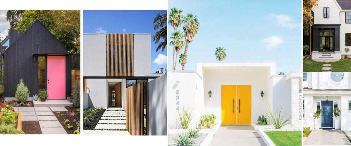 Pared y puerta a contraste