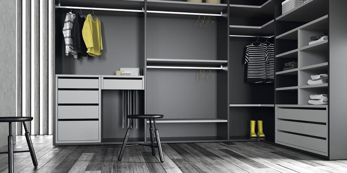 Vestidor en gris