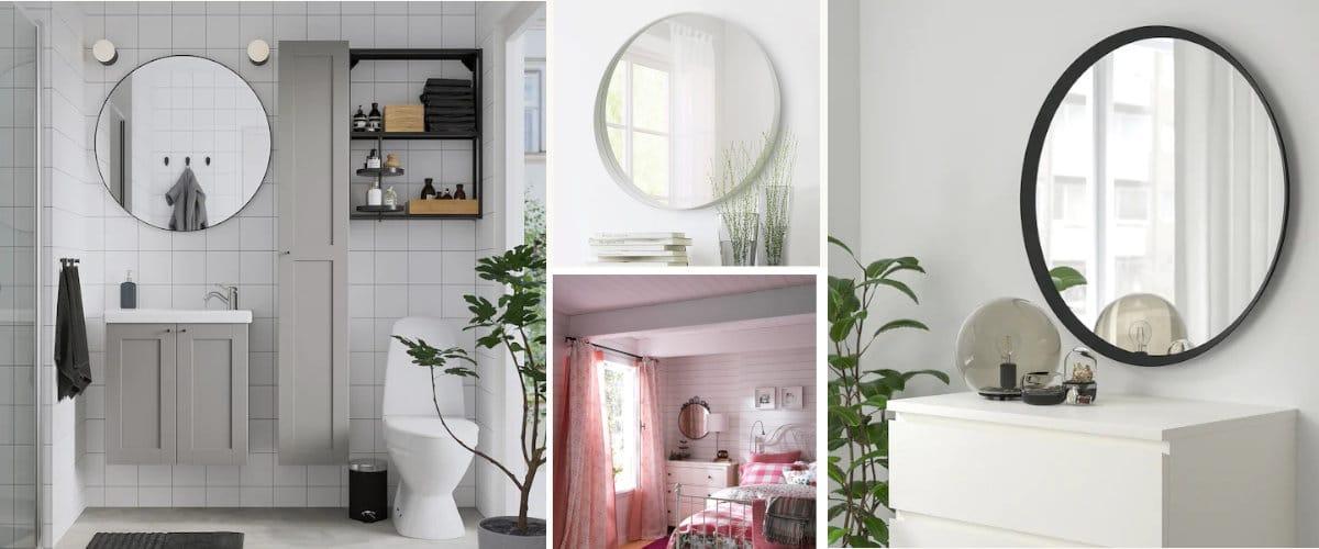 Espejos de pared redondos