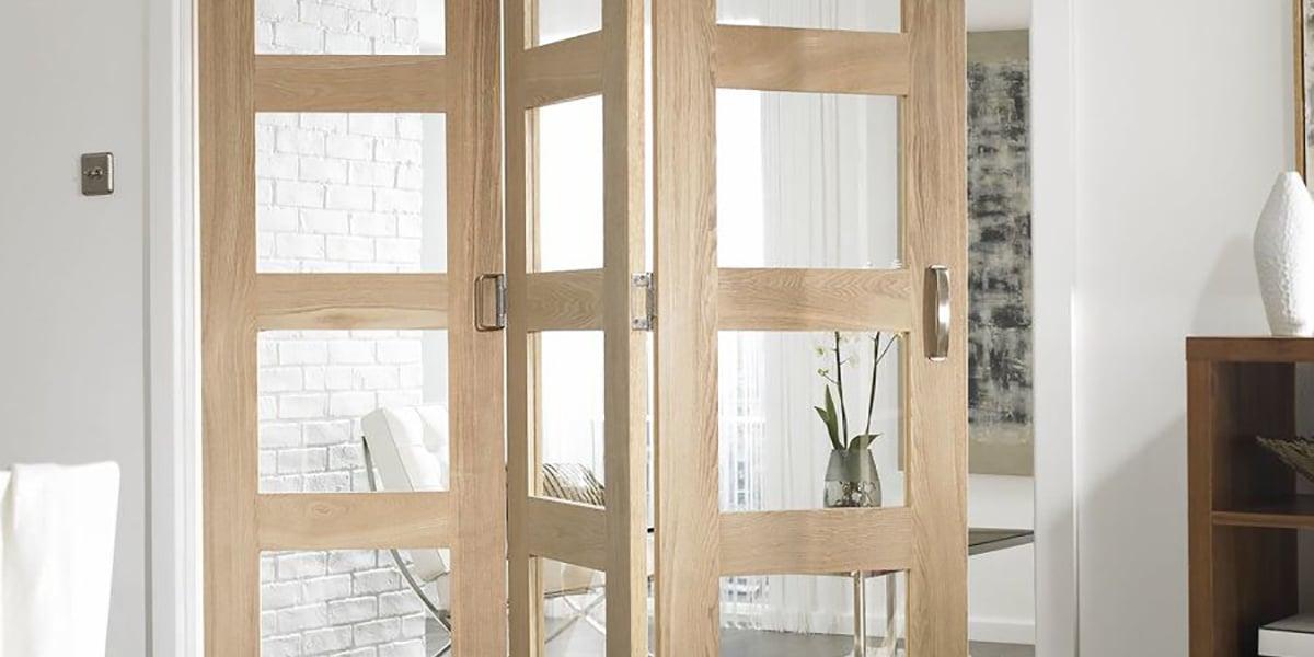 Puertas plegables con cristal