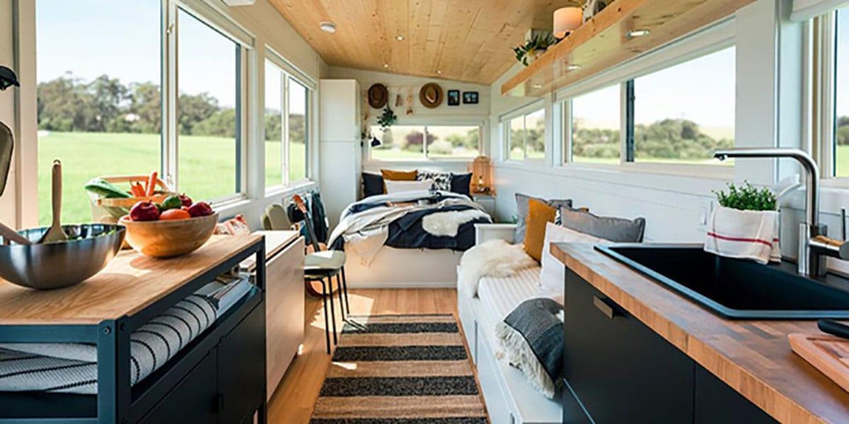 Interior de las casas prefabricadas