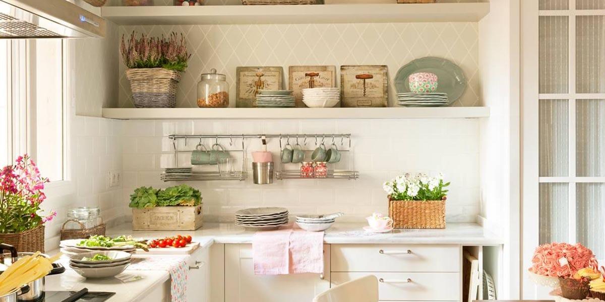 Cocina con mezcla de azulejos