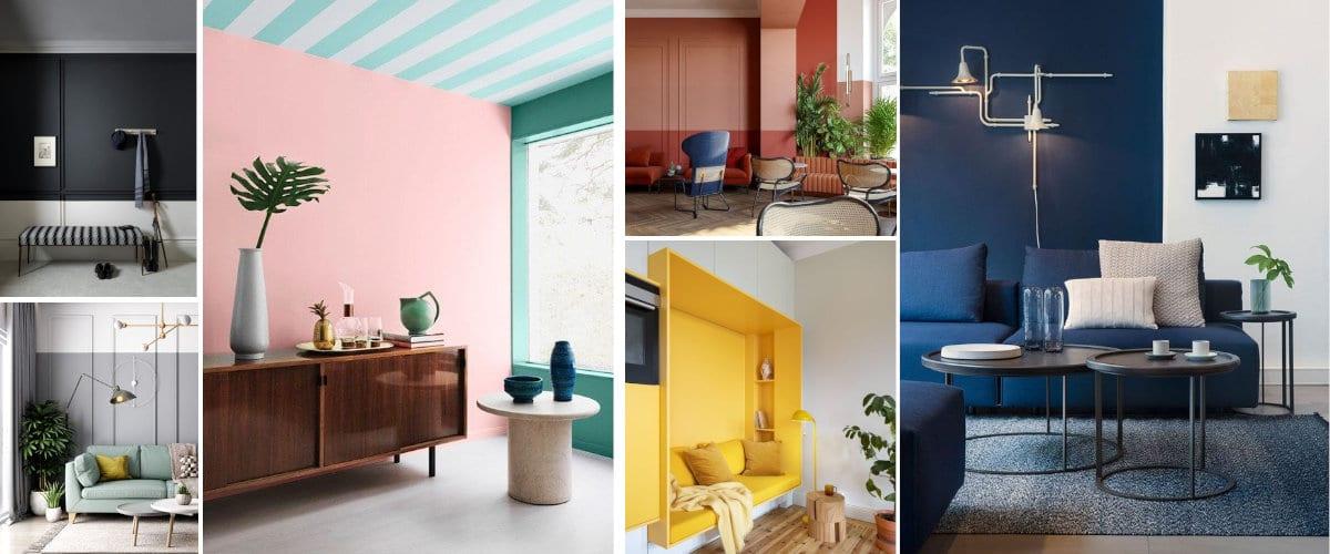 Combinaciones de colores para la pared del salón