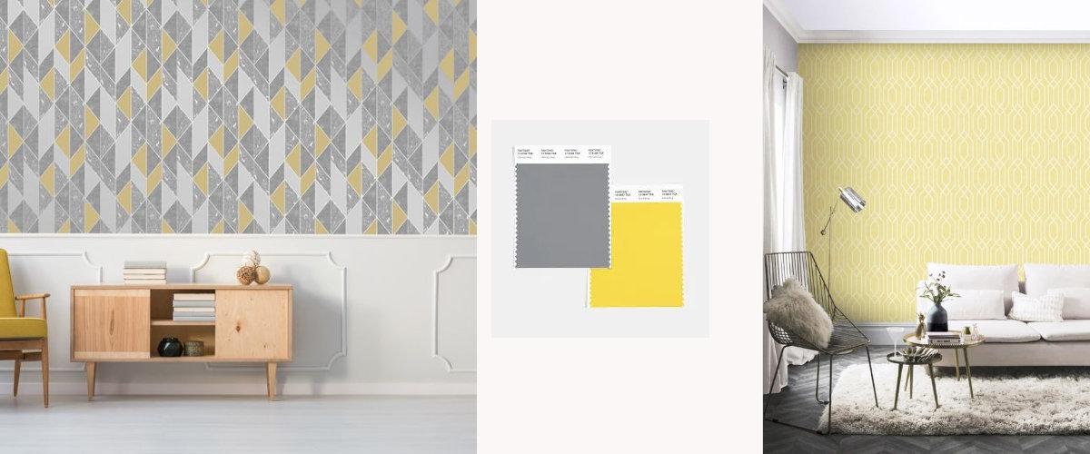 Combinación de colores de tendencia para el salón