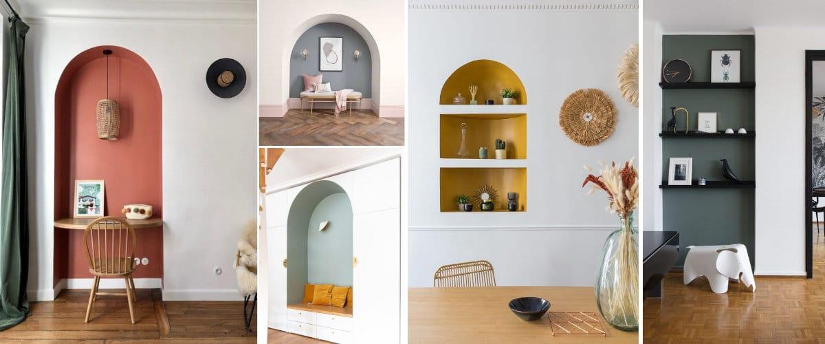 Pinta hornacinas y nichos a contraste