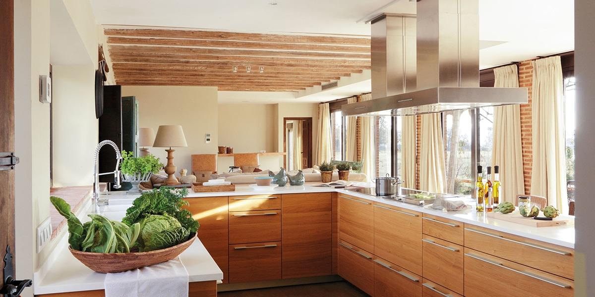 Muebles de formica en la cocina