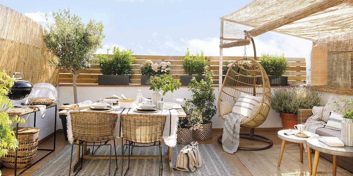 Plantas en la terraza