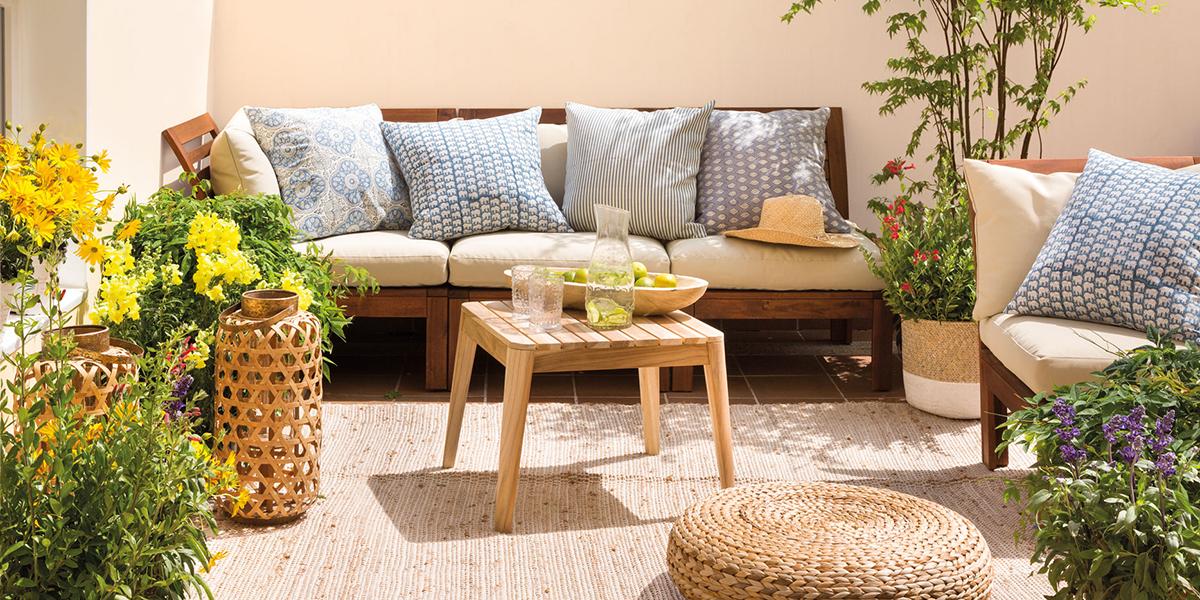 Textiles en la terraza