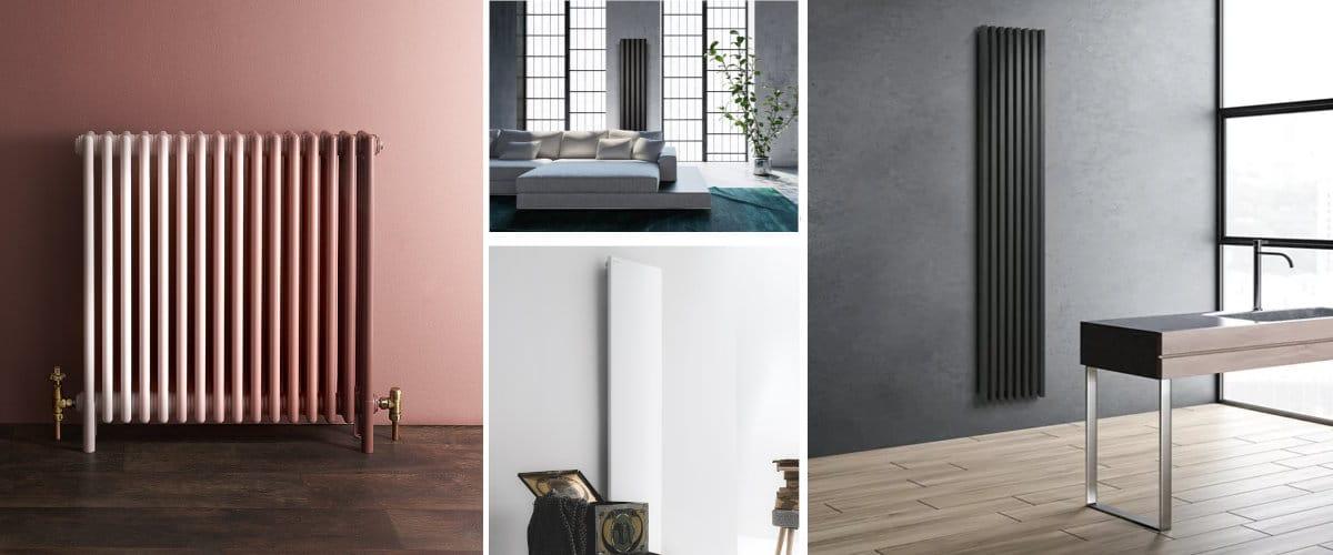 Radiadores modernos horizontales y verticales