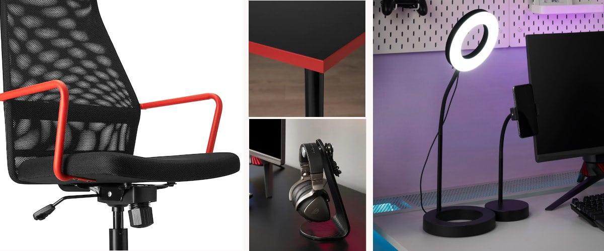 Muebles huvudspelare y accesorios gaming de Ikea