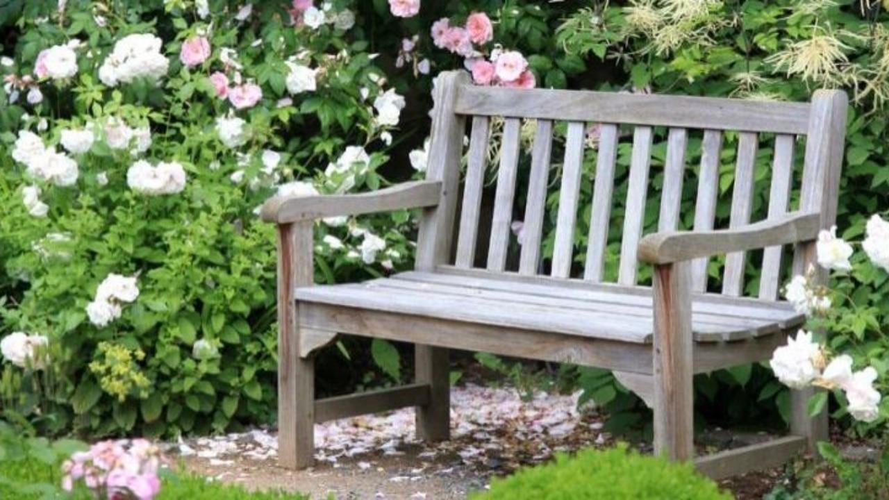 ejemplo de banco de jardin