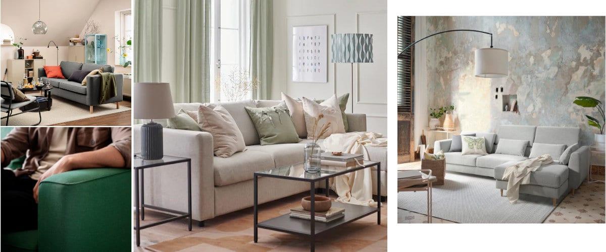 Sofás de tela de Ikea