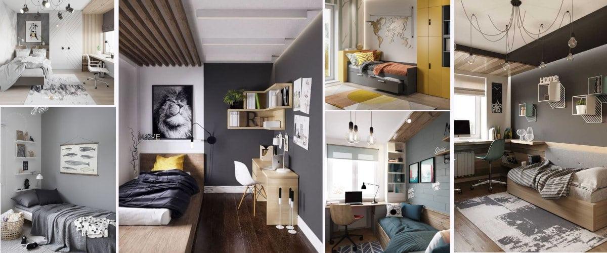 Dormitorios juveniles en todos grises