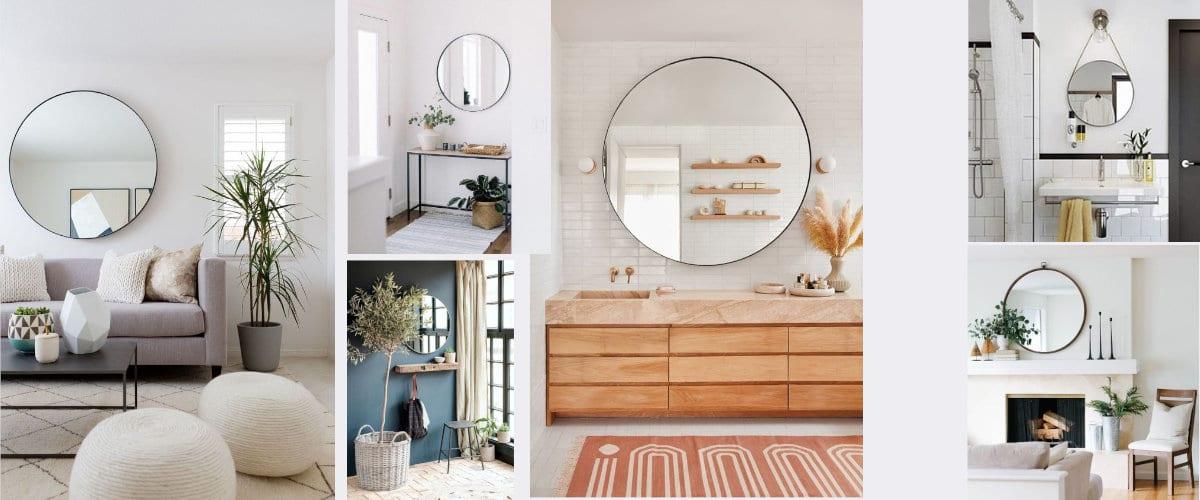 Espejos de pared redondos, toda una tendencia