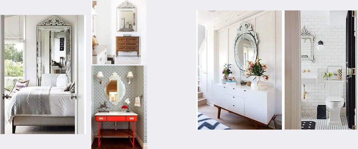 Aporta brillo y glamour con los espejos vencianos